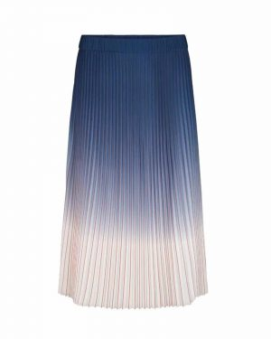 Blue and White Long skirt from Second Female