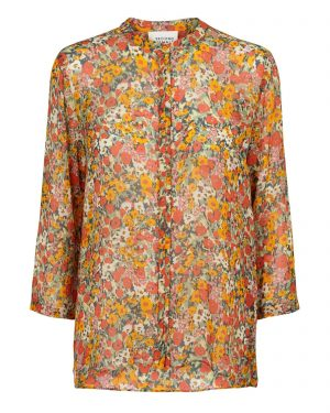 Colourful orange blouse with flower print from Second Female