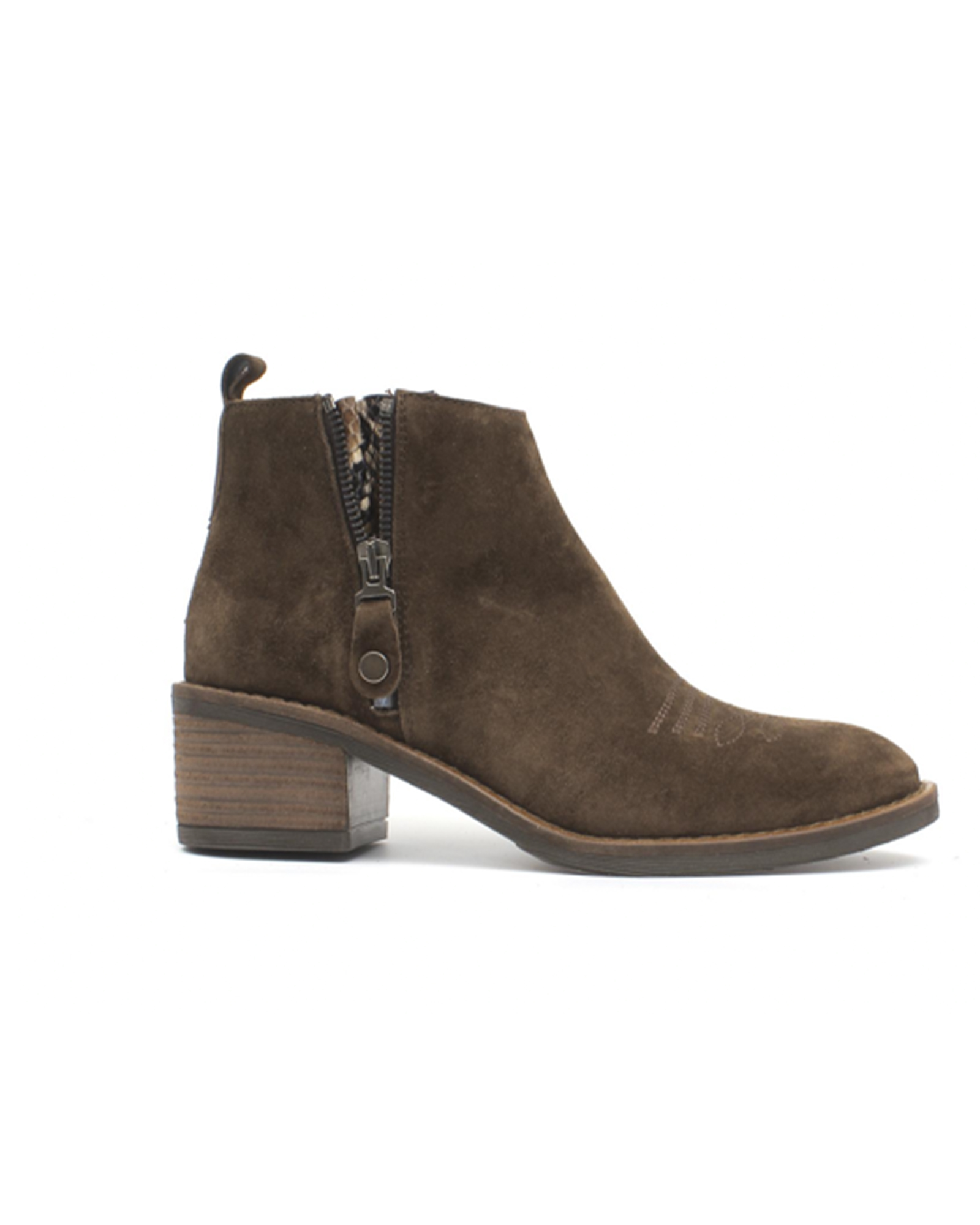 Alpe Brown Suede Ankle Boots | Thirty